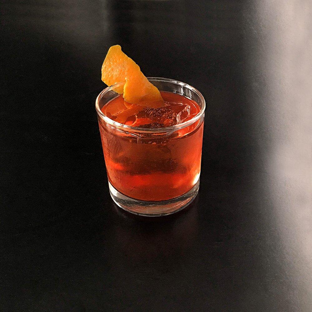 Rum Manhattan cocktail recipe made with Echo Spirits Rum